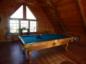 Lake House Eagles Landing On Norris Lake In Lone Mountain Shores , Eagles LAnding Loft Game Room. With pool, Darts and a telescope, on Norris Lake in Tennessee - Lakehouse Vacation Rental - Lake Home for rent on LakeHouseVacations.com