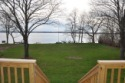 Lake House Daddy's Lake, Level front yard between house and lake., on Cayuga Lake in New York - Lakehouse Vacation Rental - Lake Home for rent on LakeHouseVacations.com