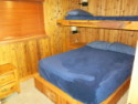 Lake House Lake Webster, Treehouse Island, Weekly Rental, Indiana, Bedroom w/Queen & Twin Bunk, on Webster Lake in Indiana - Lakehouse Vacation Rental - Lake Home for rent on LakeHouseVacations.com