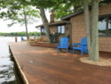 Lake House Lake Webster, Treehouse Island, Weekly Rental, Indiana, View of Large Deck, on 	Webster Lake	 in Indiana - Lakehouse Vacation Rental - Lake Home for rent on LakeHouseVacations.com