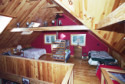 Bowerbank Maine Vacation Rental Chalet Style House On Sebec Lake, loft beds, on Sebec in Maine - Vacation Rental - Home for rent on LakeHouseVacations.com