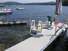 Lake House Victorian Lakefront Cottage With Spectacular Sunrise View Of Water, View Looking out from Dock, on Spofford Lake in New Hampshire - Lakehouse Vacation Rental - Lake Home for rent on LakeHouseVacations.com