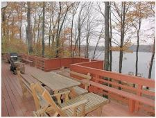 Lake House 5 Bdrm Lakefront Chalet, Beautiful Views, A/c. Hot Tub, 2 Boats, Game Rm, Dock, Deck, , on Big Bass Lake in Pennsylvania - Lakehouse Vacation Rental - Lake Home for rent on LakeHouseVacations.com