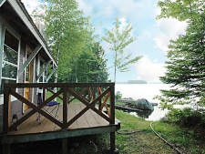 Lake House Classic Downeast Maine Lakefront Cottage - On Spring Fed Cathance Lake, Manager\'s Cottage Deck, on Cathance Lake in Maine - Lakehouse Vacation Rental - Lake Home for rent on LakeHouseVacations.com