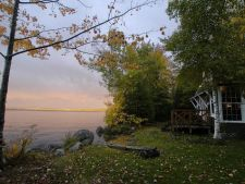 Lake House Classic Downeast Maine Lakefront Cottage - On Spring Fed Cathance Lake, Manager\'s Cottage in Autumn, on Cathance Lake in Maine - Lakehouse Vacation Rental - Lake Home for rent on LakeHouseVacations.com