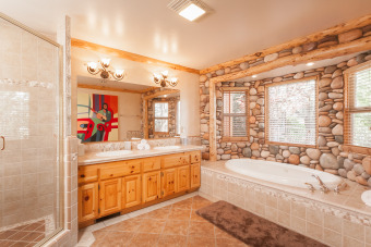 Lake House Spa and Pool Table and this Incredible Lakefront Lodge, , on Big Bear Lake in California - Lakehouse Vacation Rental - Lake Home for rent on LakeHouseVacations.com