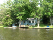 Lake House Waterfront Lakefront Cottage-close To Elk Mountain, Property from the water, on Page Lake in Pennsylvania - Lakehouse Vacation Rental - Lake Home for rent on LakeHouseVacations.com