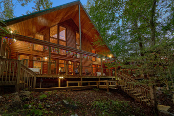 Lake House Cabin on the Creek! 4 Bedroom Luxury Cabin with outdoor fireplace!, , on Webb Creek � Sevier County in Tennessee - Lakehouse Vacation Rental - Lake Home for rent on LakeHouseVacations.com