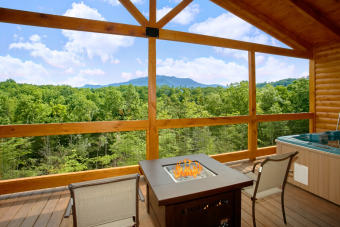Lake House Romantic Cabin with Views, Outdoor Living Room, Fire Pit, Hot Tub, Upgrades!, , on  in Tennessee - Lakehouse Vacation Rental - Lake Home for rent on LakeHouseVacations.com