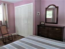 Lake House Camp On Swan Lake, 2 Br, Lakefront New Home, Steps lead to swimming float, on Swan Lake in Maine - Lakehouse Vacation Rental - Lake Home for rent on LakeHouseVacations.com