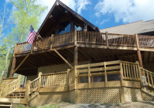 Lake House Heaven Sent -norris Lake Vacation Cabin Rental -private Dock- Endless Entertainment, Front Of house, on Norris Lake in Tennessee - Lakehouse Vacation Rental - Lake Home for rent on LakeHouseVacations.com