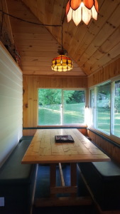 Lake House Lake Champlain Modern Cottages! Rent 1, 2 Or All 3! Perfect For Couples/large Groups!, The Osprey cottage dining/kitchen area, on Lake Champlain in Vermont - Lakehouse Vacation Rental - Lake Home for rent on LakeHouseVacations.com