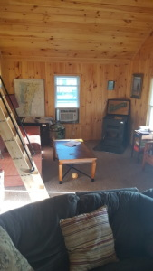 Lake House Lake Champlain Modern Cottages! Rent 1, 2 Or All 3! Perfect For Couples/large Groups!, The Osprey cottage living room and loft, on Lake Champlain in Vermont - Lakehouse Vacation Rental - Lake Home for rent on LakeHouseVacations.com