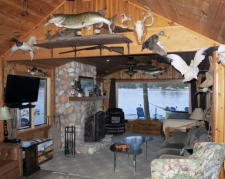 Lake House Lake Webster, Treehouse Island, Weekly Rental, Indiana, View of Living Room, on Webster Lake in Indiana - Lakehouse Vacation Rental - Lake Home for rent on LakeHouseVacations.com