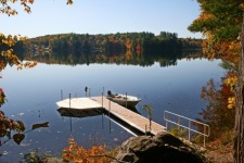Lake House Book Sept/oct 2021 Or Spring 2022, 40\' dock and boat in private cover, on Sand Pond in Maine - Lakehouse Vacation Rental - Lake Home for rent on LakeHouseVacations.com
