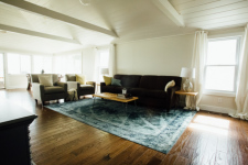 Lake House **completely Renovated 2016**lakefront Cottage With Sandy Beach, Living Room, on Winona Lake in Indiana - Lakehouse Vacation Rental - Lake Home for rent on LakeHouseVacations.com