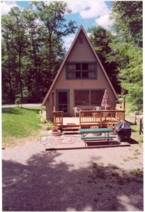 Lake House A-frame W/ Dock Slip - September Weeks & Fall Foliage Available, , on Spofford Lake in New Hampshire - Lakehouse Vacation Rental - Lake Home for rent on LakeHouseVacations.com