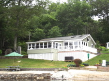 Lake House The Lake House, The Lake House view from the water., on Billings Lake in Connecticut - Lakehouse Vacation Rental - Lake Home for rent on LakeHouseVacations.com
