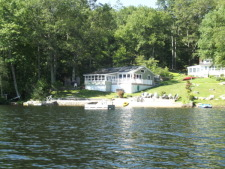 Lake House The Lake House, The Lake House, view from the water., on Billings Lake in Connecticut - Lakehouse Vacation Rental - Lake Home for rent on LakeHouseVacations.com