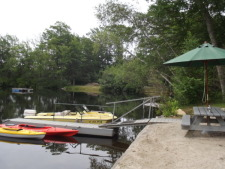 Lake House The Lake House, Boat dock and picnic table., on Billings Lake in Connecticut - Lakehouse Vacation Rental - Lake Home for rent on LakeHouseVacations.com
