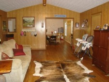 Lake House Large Lakefront Cabin (new Rental Unit), living area, on Rough River Lake in Kentucky - Lakehouse Vacation Rental - Lake Home for rent on LakeHouseVacations.com