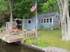 Lake House Waterfront Lakefront Cottage-close To Elk Mountain, Yard from the water & view of the deck, on Page Lake in Pennsylvania - Lakehouse Vacation Rental - Lake Home for rent on LakeHouseVacations.com