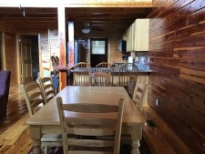 Lake House Southern Cedar Log Cabin New 2015, dining area, on Lake Barkley in Kentucky - Lakehouse Vacation Rental - Lake Home for rent on LakeHouseVacations.com