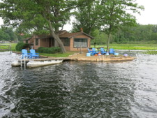 Lake House Lake Webster, Treehouse Island, Weekly Rental, Indiana, View of Treehouse Island, on Webster Lake in Indiana - Lakehouse Vacation Rental - Lake Home for rent on LakeHouseVacations.com