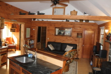 Lake House Waterfront Cottages *private Dock* Mountain Views* Sleeps 8* Seasonal, Alpine's open layout , on Lake Fairlee in Vermont - Lakehouse Vacation Rental - Lake Home for rent on LakeHouseVacations.com
