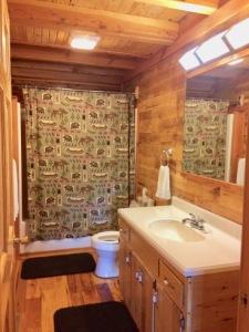 Lake House New Cedar Log Home On Lake Barkley With Deep Water Dock, master bathroom, on Lake Barkley in Kentucky - Lakehouse Vacation Rental - Lake Home for rent on LakeHouseVacations.com