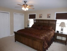 Lake House Perfect Family Vacation, Master Bedroom - King Bed, on Lake of the Ozarks in Missouri - Lakehouse Vacation Rental - Lake Home for rent on LakeHouseVacations.com