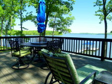 Lake House Unique Stone Cottage - Lakefront - Amazing View - Bald Eagle Viewing From The Deck, The View from the 1100 Square Foot Deck Looking North, on Kentucky Lake in Kentucky - Lakehouse Vacation Rental - Lake Home for rent on LakeHouseVacations.com