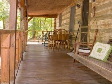Lake House Log Cabin & Private Lake With Great Fishing, One of guests' favorite places to watch the wildlife, on Timberline Lake in Indiana - Lakehouse Vacation Rental - Lake Home for rent on LakeHouseVacations.com