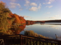 Lake Front W/ Unforgettable Views. Hot Tub, Fireplace, Pool Table, Boat On Site, on Big Bass Lake, Lake Home rental in Pennsylvania